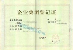 集团登记证