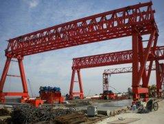 洛阳信昌道桥项目所需提梁机施工现场