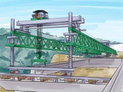 云南红河100t架桥机公司安装轨道